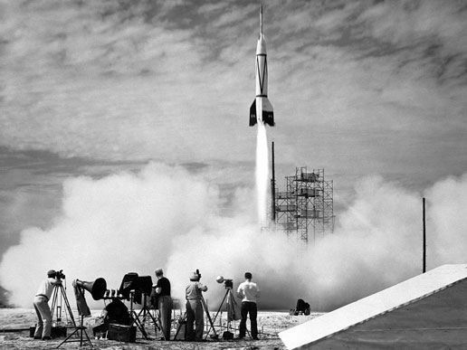 the first rocket launch for NASA in July 1950